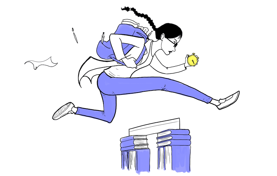 Jump over your homework