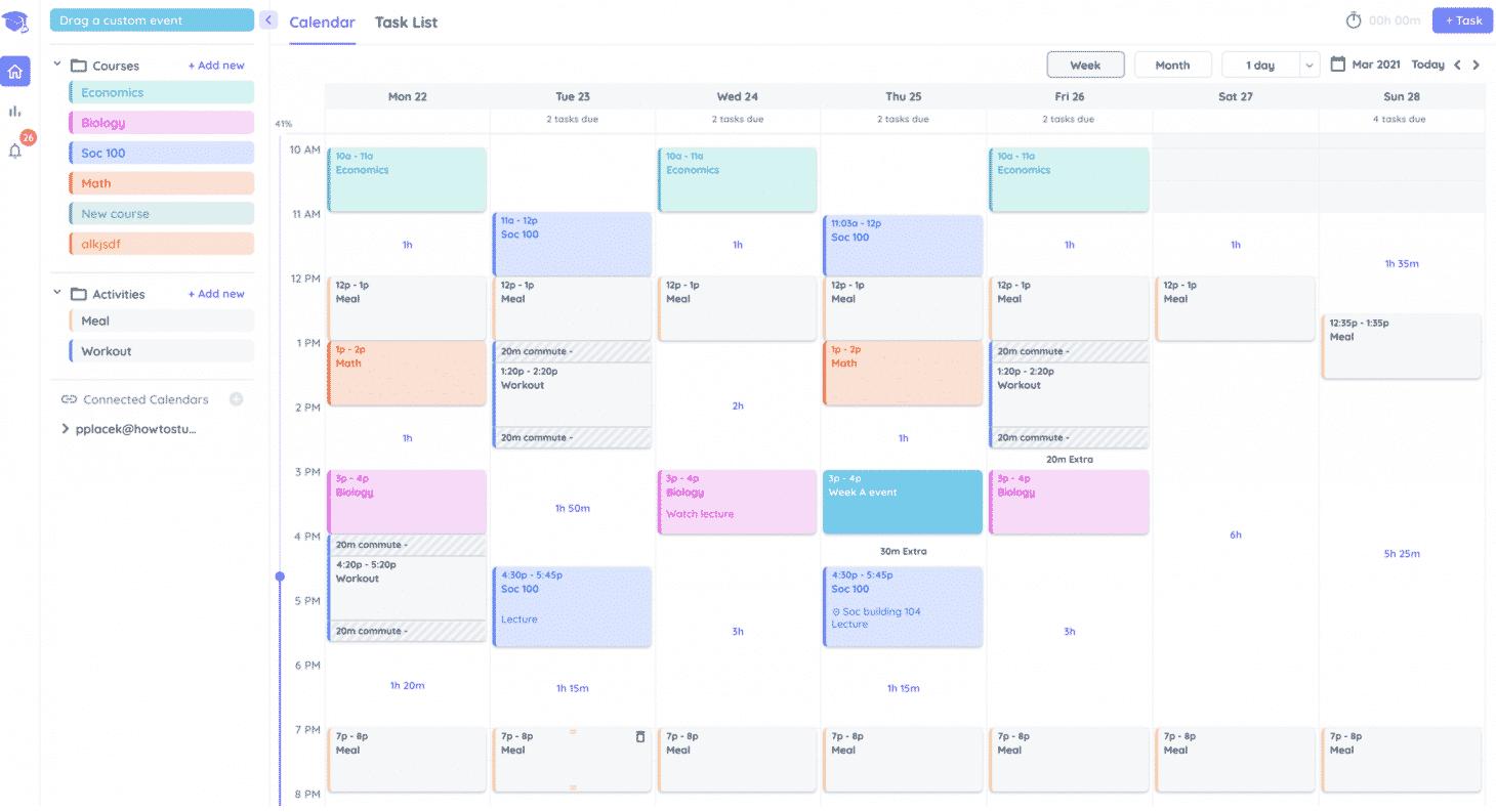 Drag and drop tasks into your Shovel calendar
